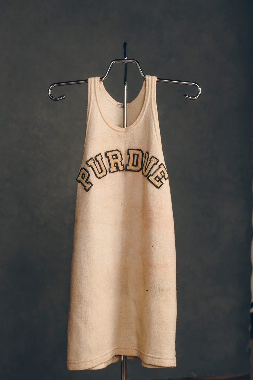 Brees nabs Wooden jersey for Purdue to display