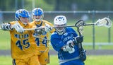 The Milton boys lacrosse team played Otter Valley in Milton on Wednesday, May 30, 2018.