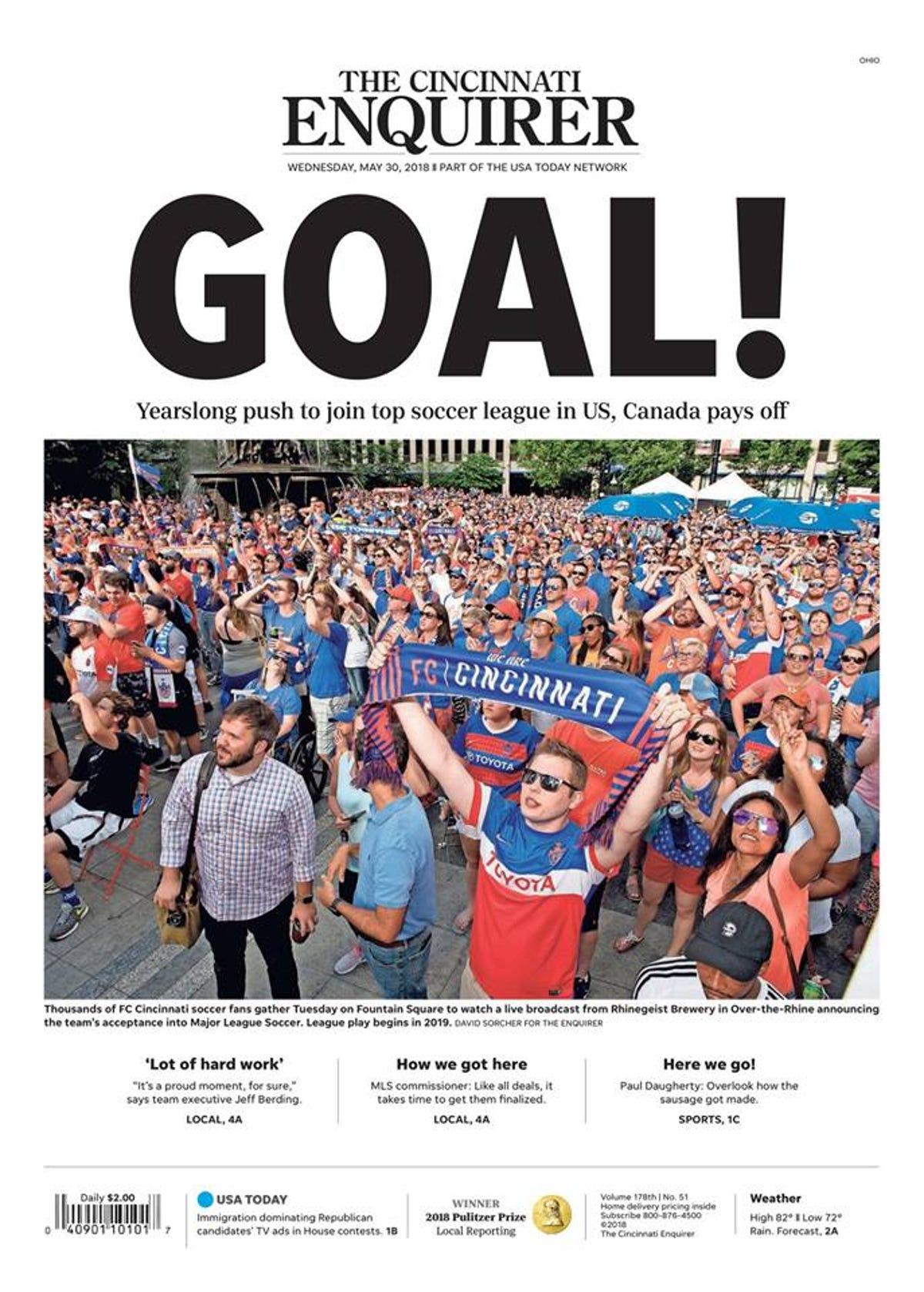 Watch: Q102 celebrates FC Cincinnati MLS bid with