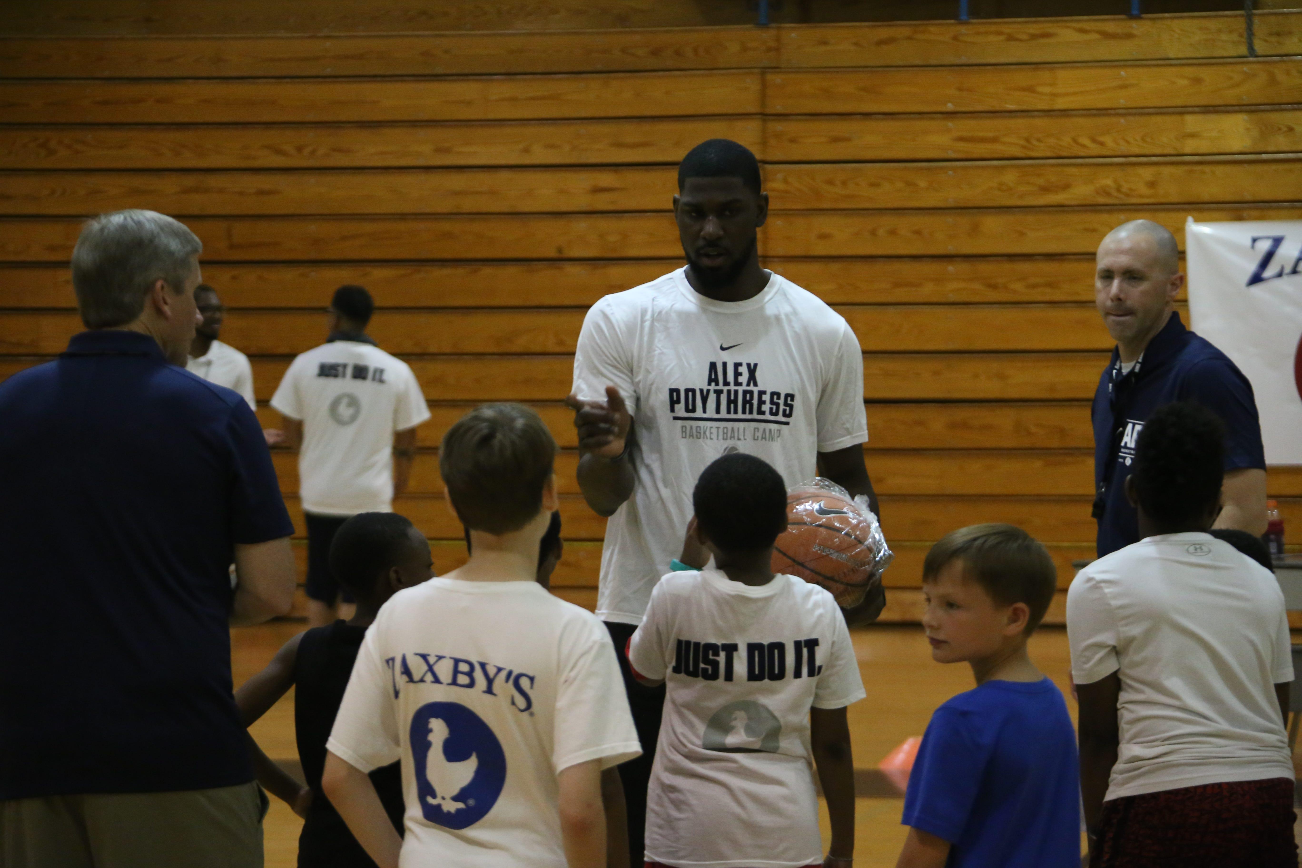timeless design 6545d a5335 Video: Alex Poythress returns home for youth basketball camp
