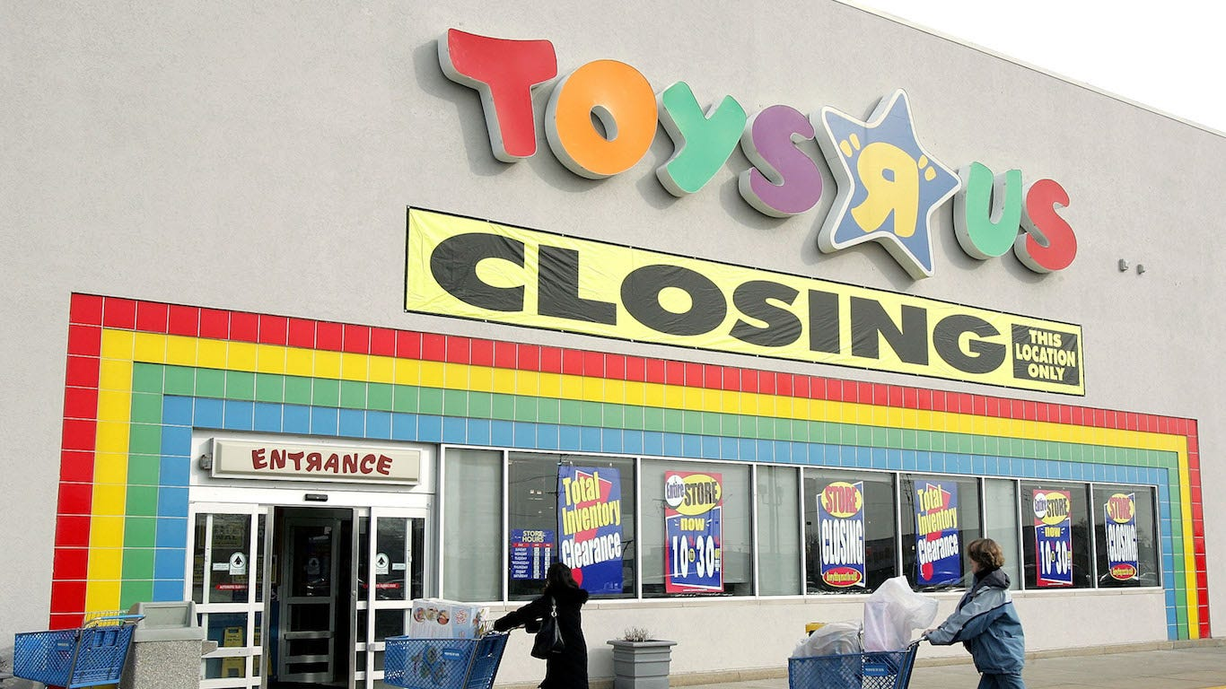 Retailers lost in the last decade: Toys R Us, Sports Authority, Blockbuster, Borders and Payless