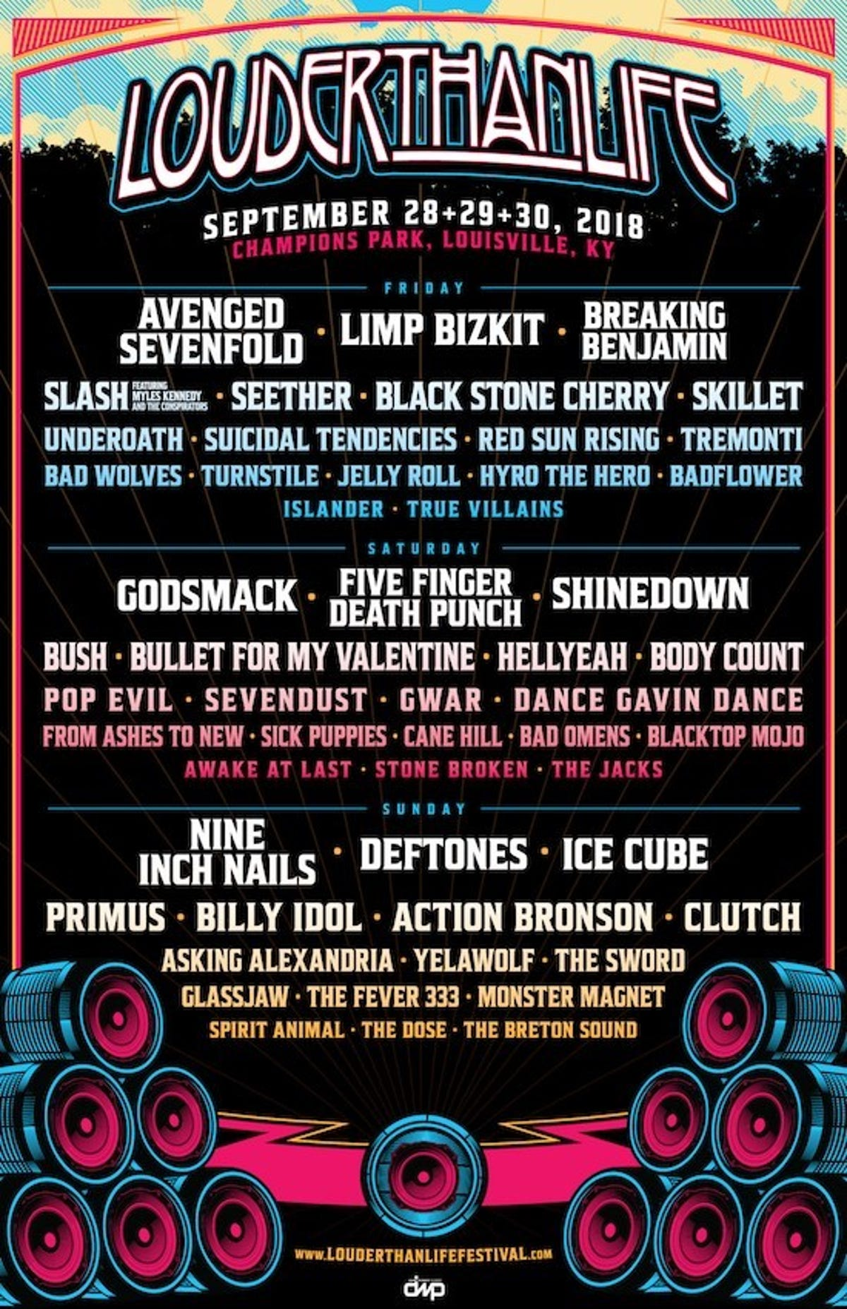 Louder Than Life 2018 lineup: Nine Inch Nails, Five Finger