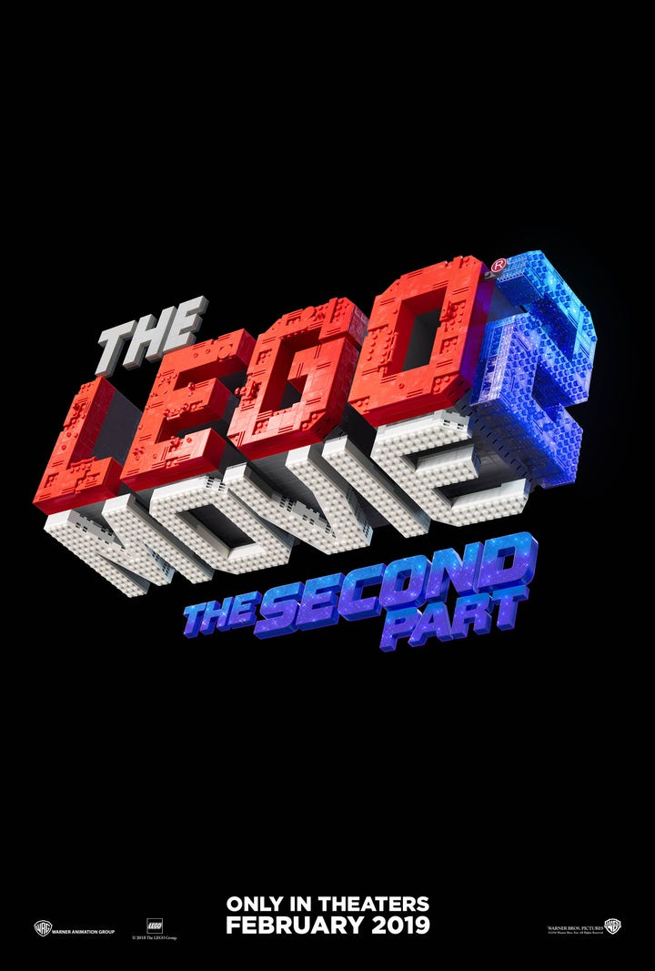The new trailer for Warner Bros.' upcoming sequel upcoming sequel 'The LEGO Movie 2: The Second Part'.