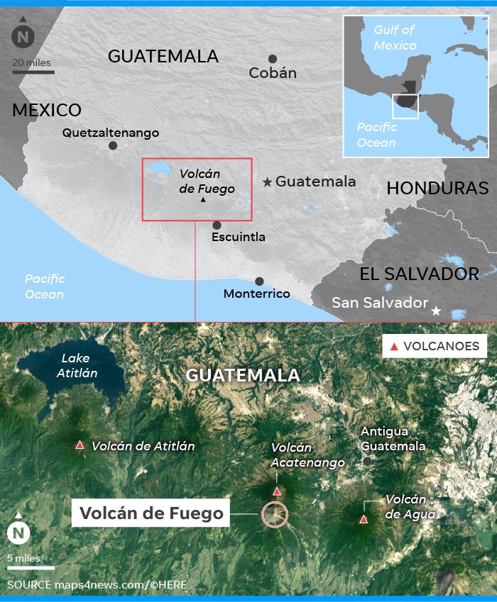 Guatemala volcano eruption: Death toll rises at Volcán de Fuego