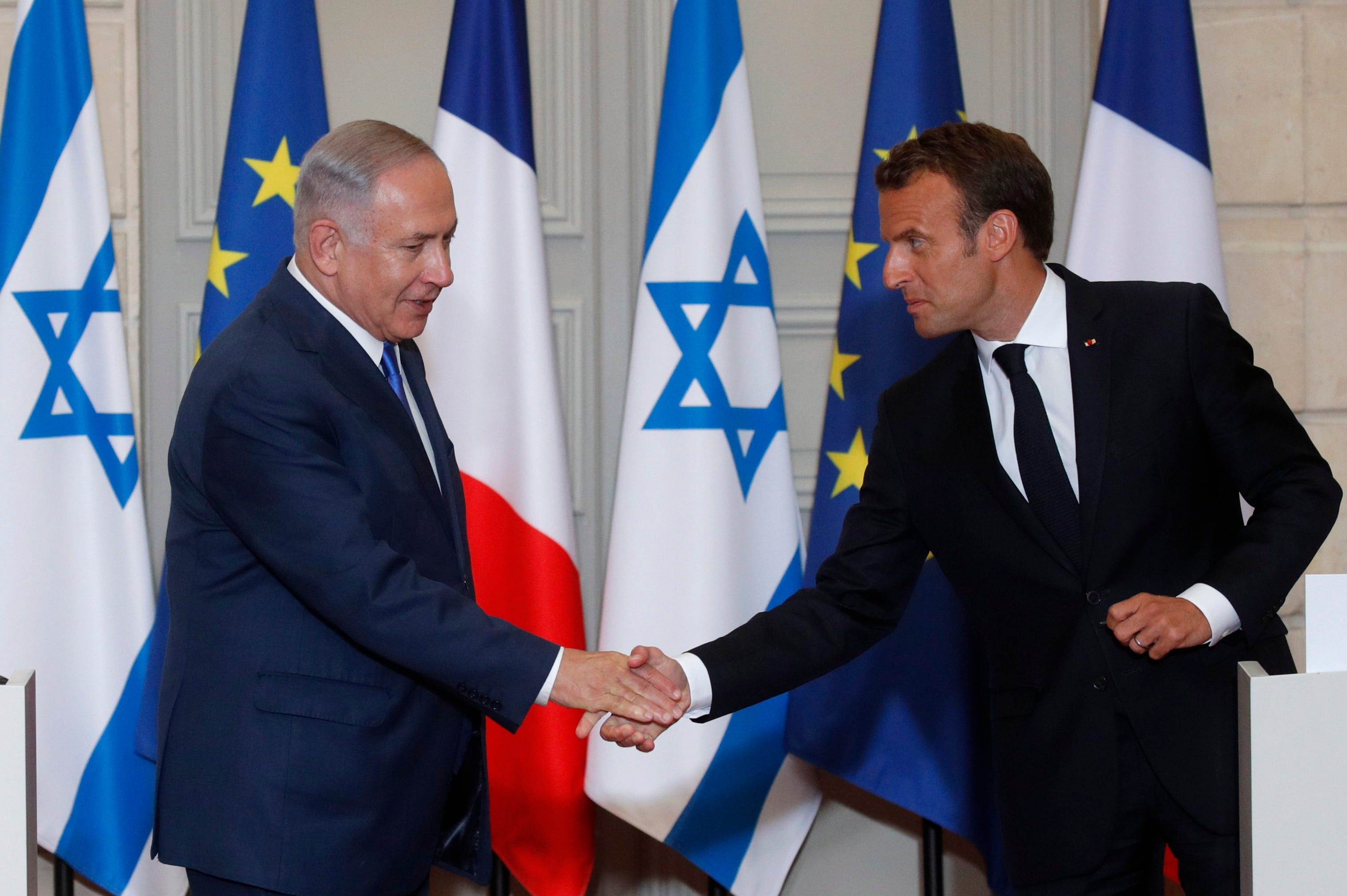 Israel's Netanyahu, France's Macron agree to disagree on Iran nuclear deal