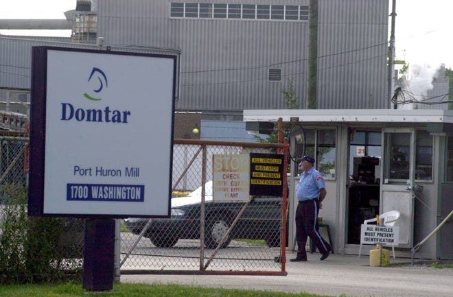 Port Huron firefighters were at a fire at Domtar on Tuesday, June 5, 2018.