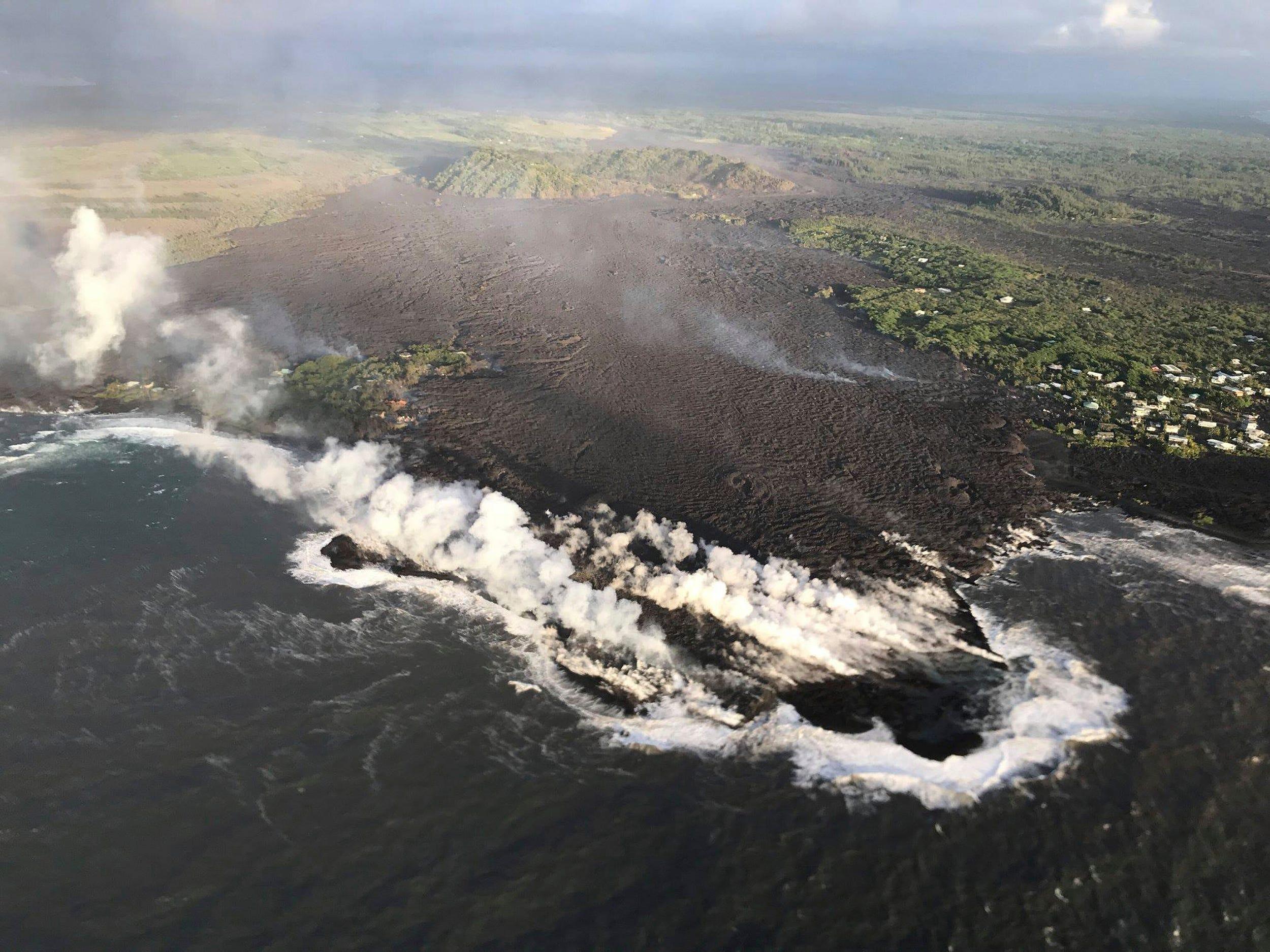 Picturesque Kapoho Bay transformed into lava field as Hawaiian volcano rumbles