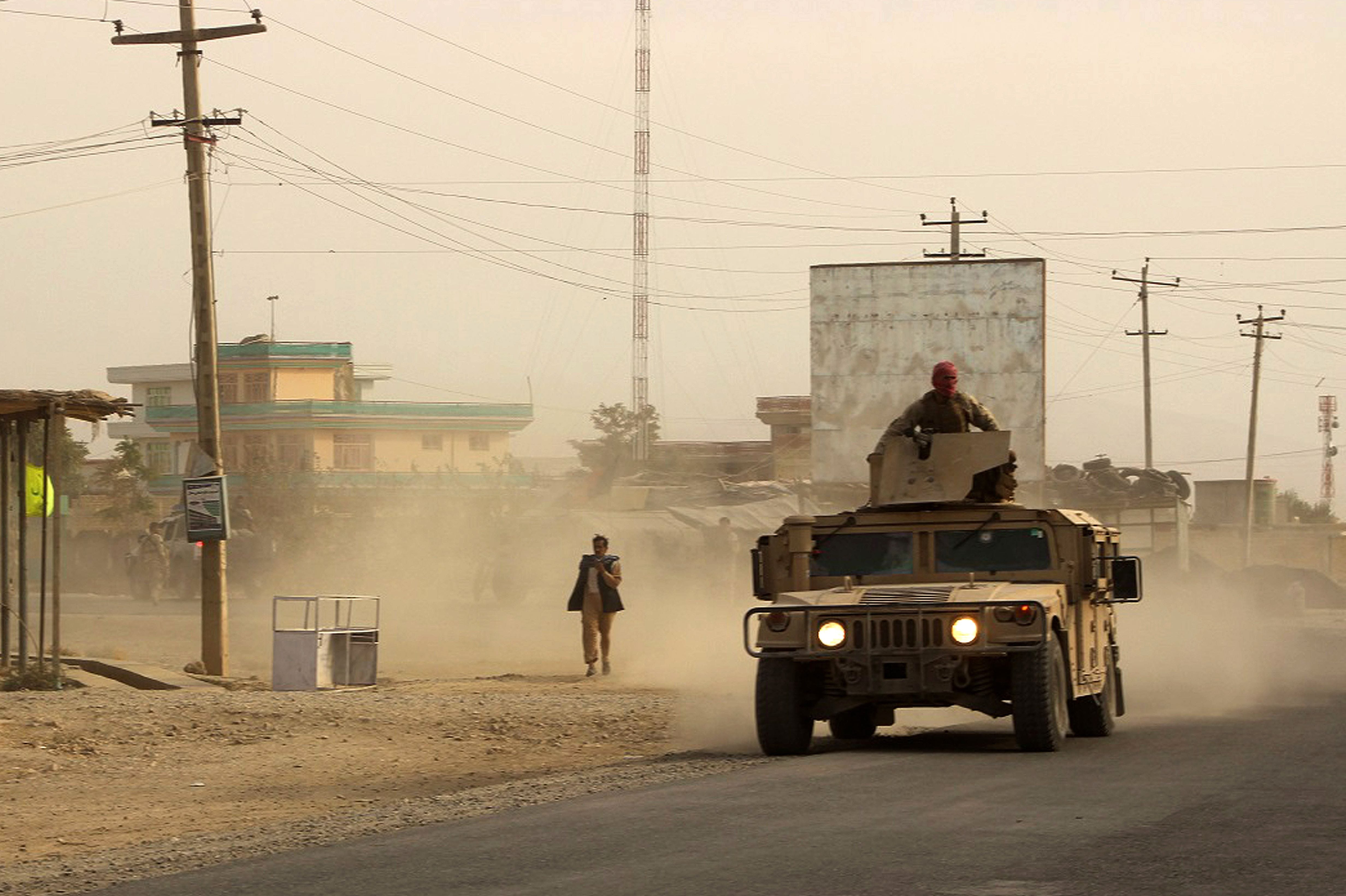 U.S. gives Humvees to Afghan army, then blows them up when they fall into Taliban hands