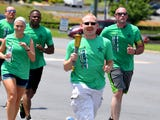 With the help of the Augusta County Sheriff's Office the Special Olympics Torch run came through the area Thursday