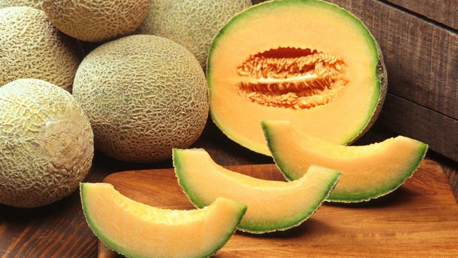 3. Cantaloupe   Sweet, juicy, and luminously orange-fleshed, this delicious melon arrived in Italy around the 15th century, probably from Persia by way of Armenia. It was first planted in the Papal Gardens in the commune of Cantalupo, near Rome, giving it its name. (Bonus fact: True cantaloupe has a smooth exterior. The melon we usually eat under that name, with a net-like pattern indented on its skin, is actually a related fruit properly known as muskmelon.)