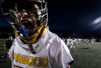 Harwood boy's lacrosse went into the championship against U32 Friday night at UVM with a perfect season, handily continuing the streak with a 10-1 win.