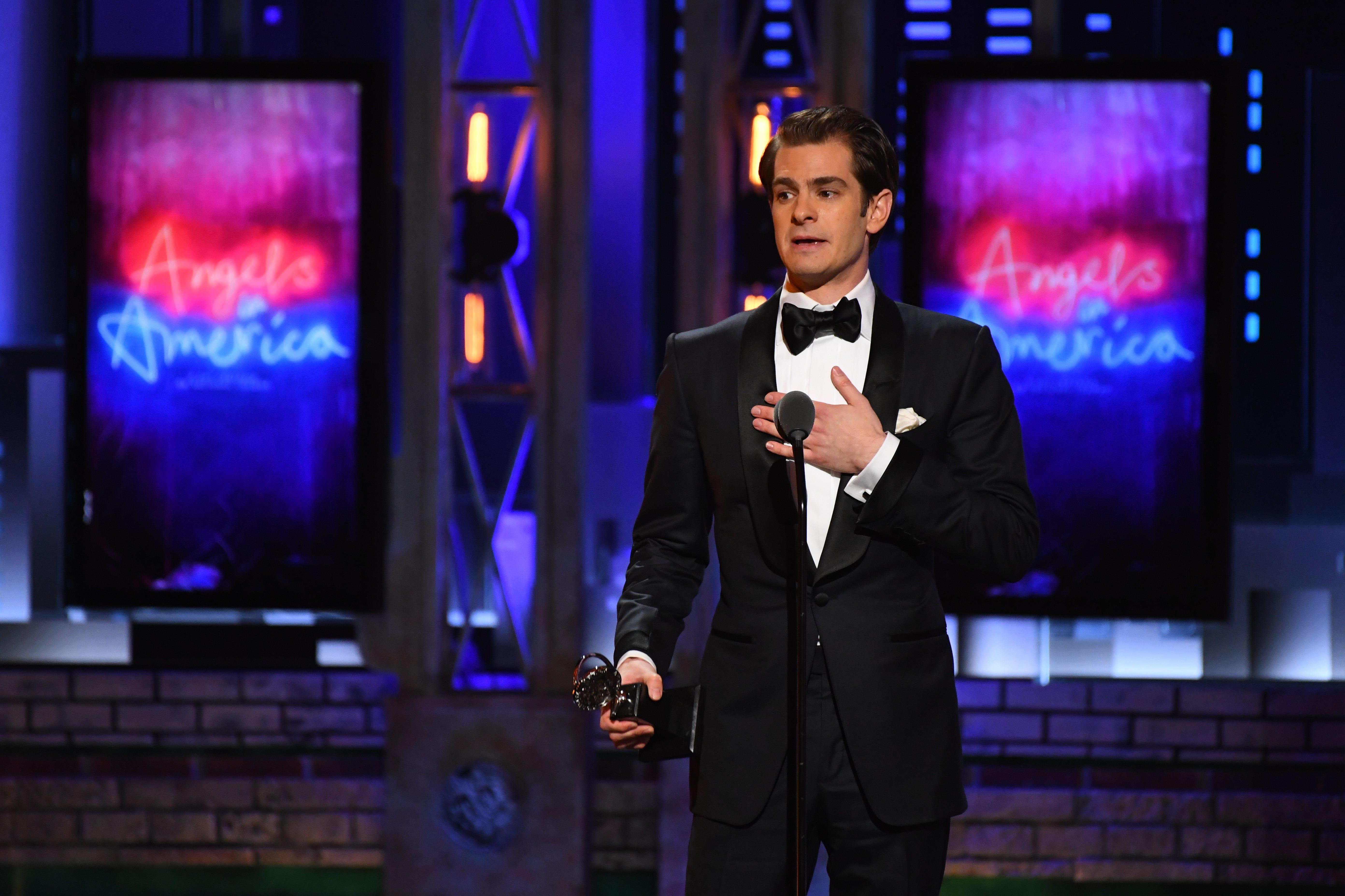 Tony Awards: Andrew Garfield emphasizes 'sanctity of the human spirit' in powerful speech