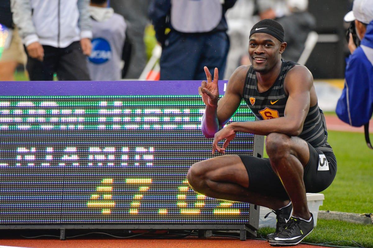 Mount Vernon's Rai Benjamin going pro after setting NCAA hurdles record
