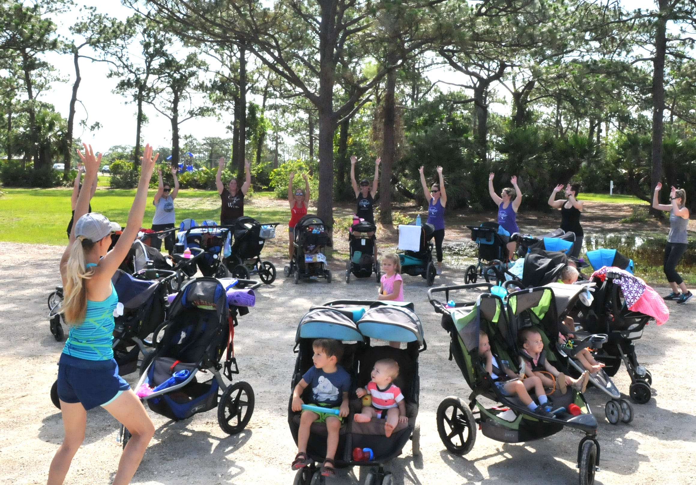 636646689998717425-Fit4Mom-exercise-group-n19 FIT4MOM: Space Coast mothers combat 'mom bod,' postpartum — with kids in tow