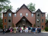 The luxury cabins at Cherokee Orchard in Gatlinburg are designed to accommodate large parties like family reunions or corporate retreats