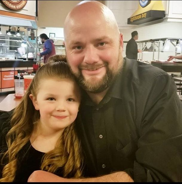 Single father known as 'The Hair Dad' uses viral fame to help other dads and daughters | Burlington Free Press
