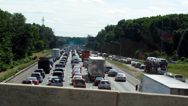 The lane closings by the Delaware Memorial Bridge caused huge backups on the New Jersey Turnpike.