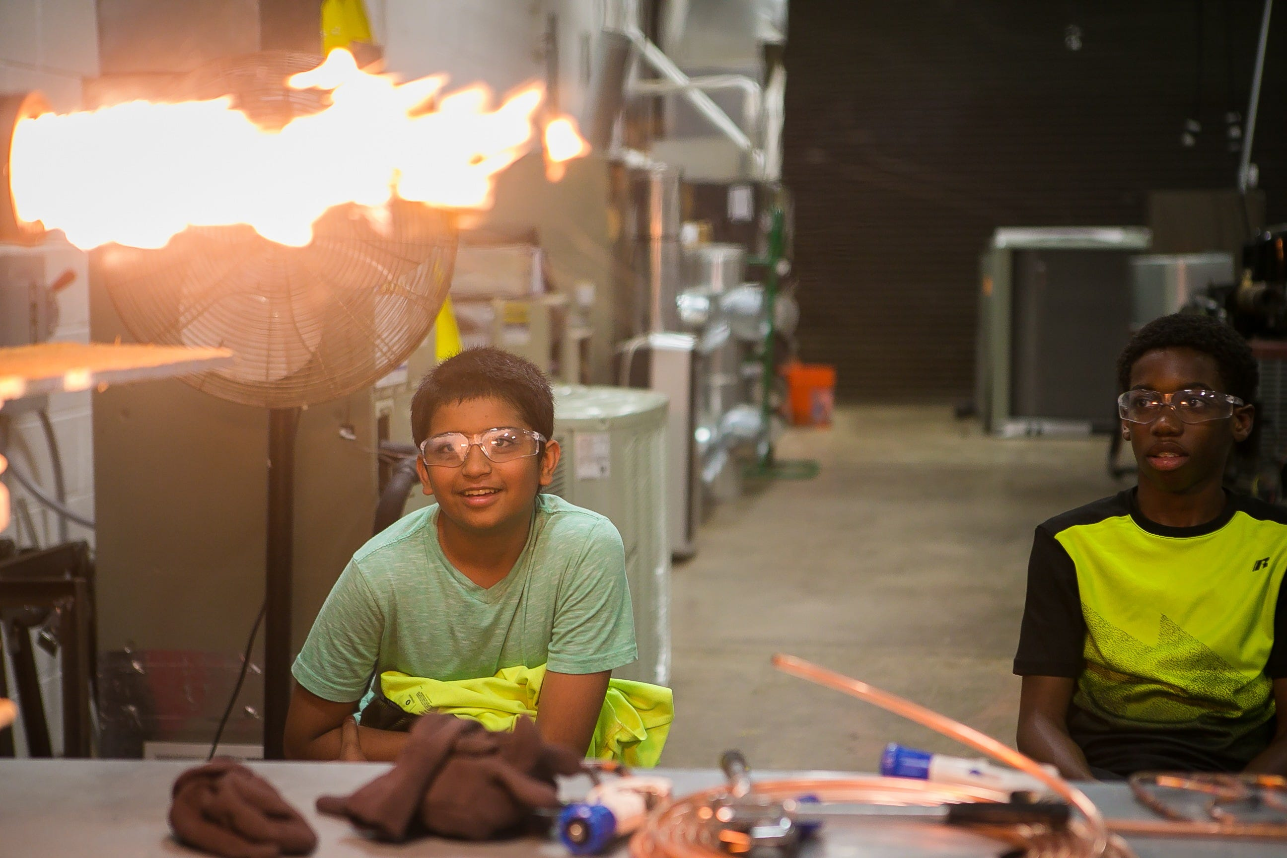New Castle County Vo-Tech summer camp introduces middle schoolers to construction work | Delaware Online