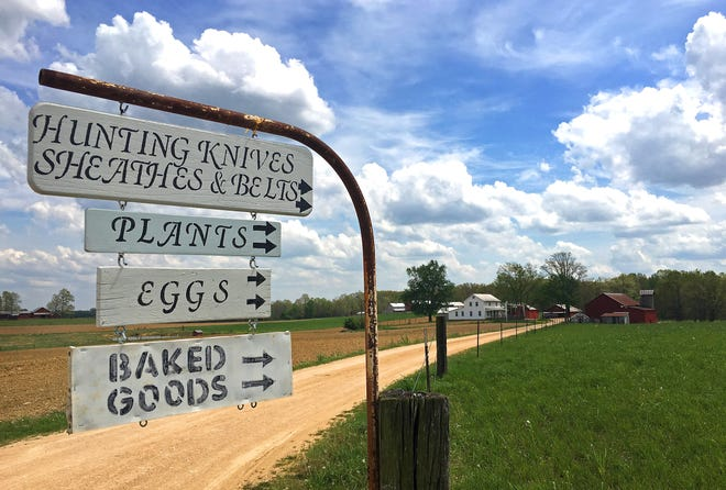 Ethridge in Lawrence County is home to more than 250 Amish farms, whose owners live and farm without electricity or running water.
