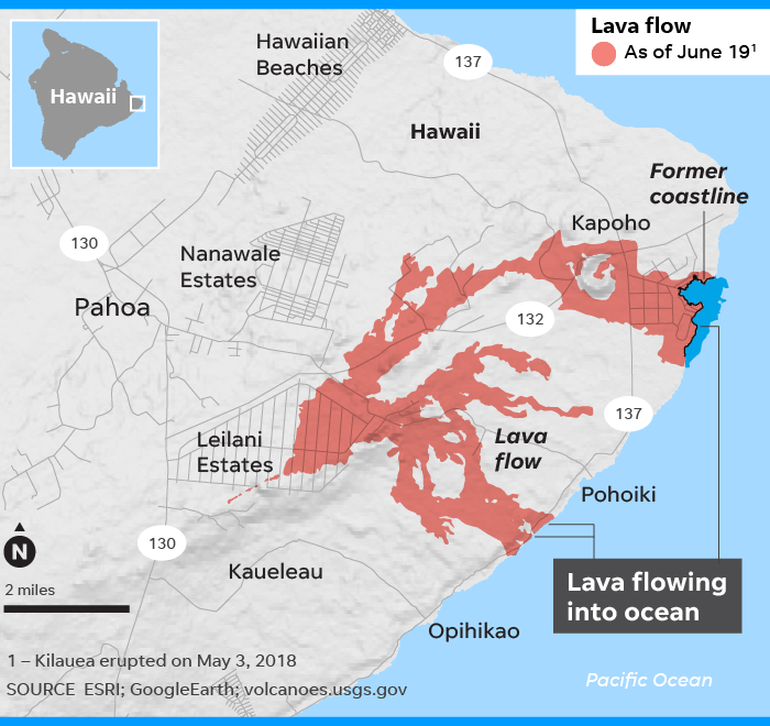Hawaii volcano eruption is now one of the biggest in recent ...