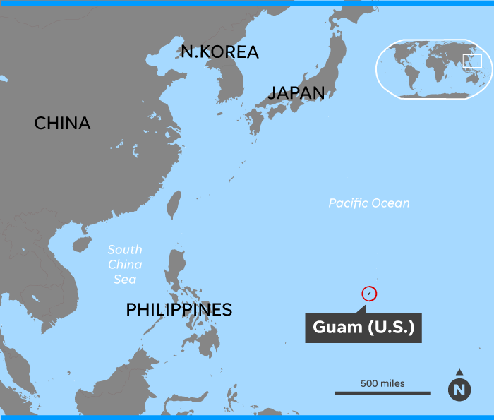 Climate change is threatening the Navy\'s bases in the Pacific, Guam