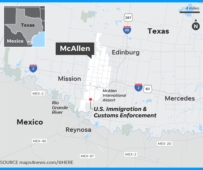 Immigrant children: Small border town of McAllen, Texas, in ... on pecos county, harris county, texas highway map, nueces county, brewster county, otero county, arroyo hondo texas map, oldham county, la vernia texas map, east texas road map, midland county, wilson county, brazoria county, jefferson county, all east texas cities map, culberson county, printable texas map, cameron county, mineola texas map, mack texas map, collin county, nuevo laredo texas map, el paso texas map, texas county map, starr county, mcclellan texas map, tres rios texas map, air force base texas map, texas street map, mapquest texas map, bexar county, hudspeth county, parker county, presidio county, fannin county, temple texas map, del rio texas map, edinburg texas map, hidalgo county, waxahachie texas map,