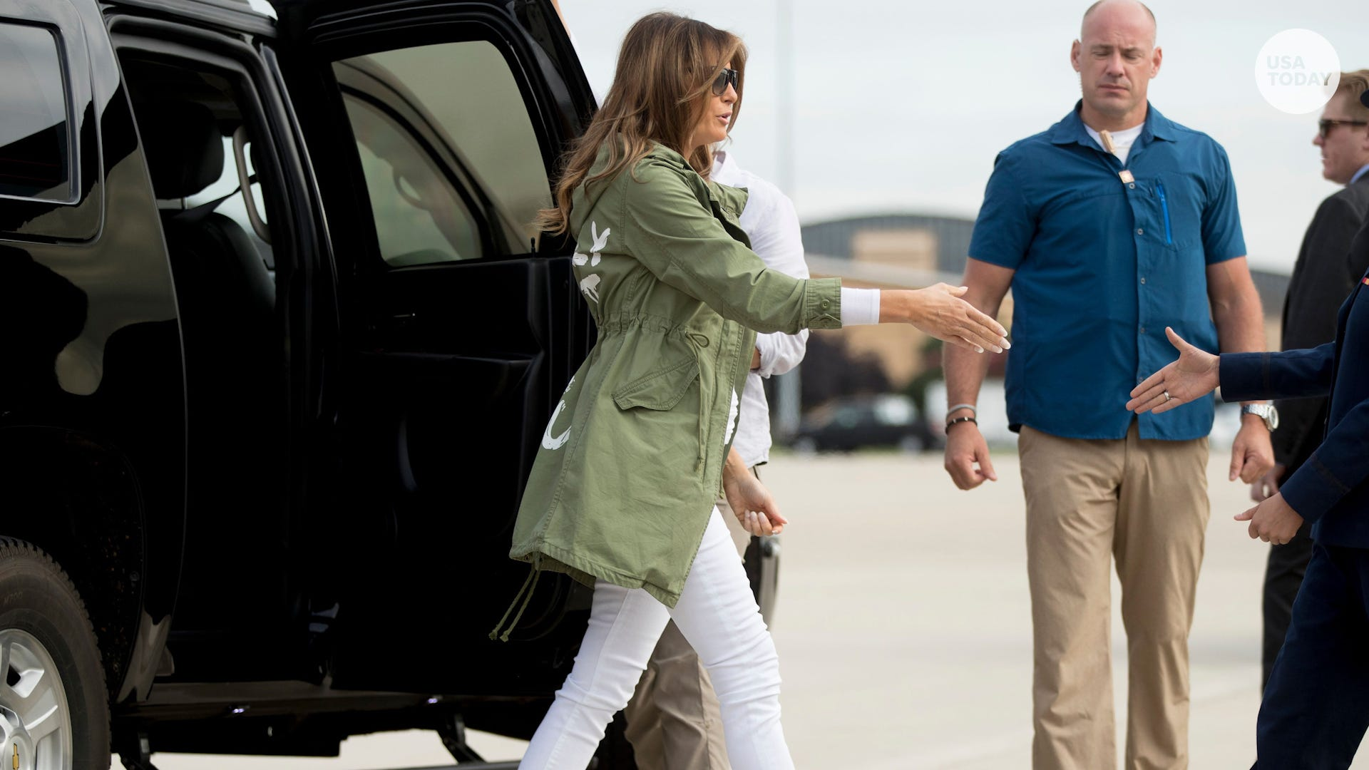 598399f2df42 First lady Melania Trump steps in again on migrant kids crisis in surprise  trip to Texas