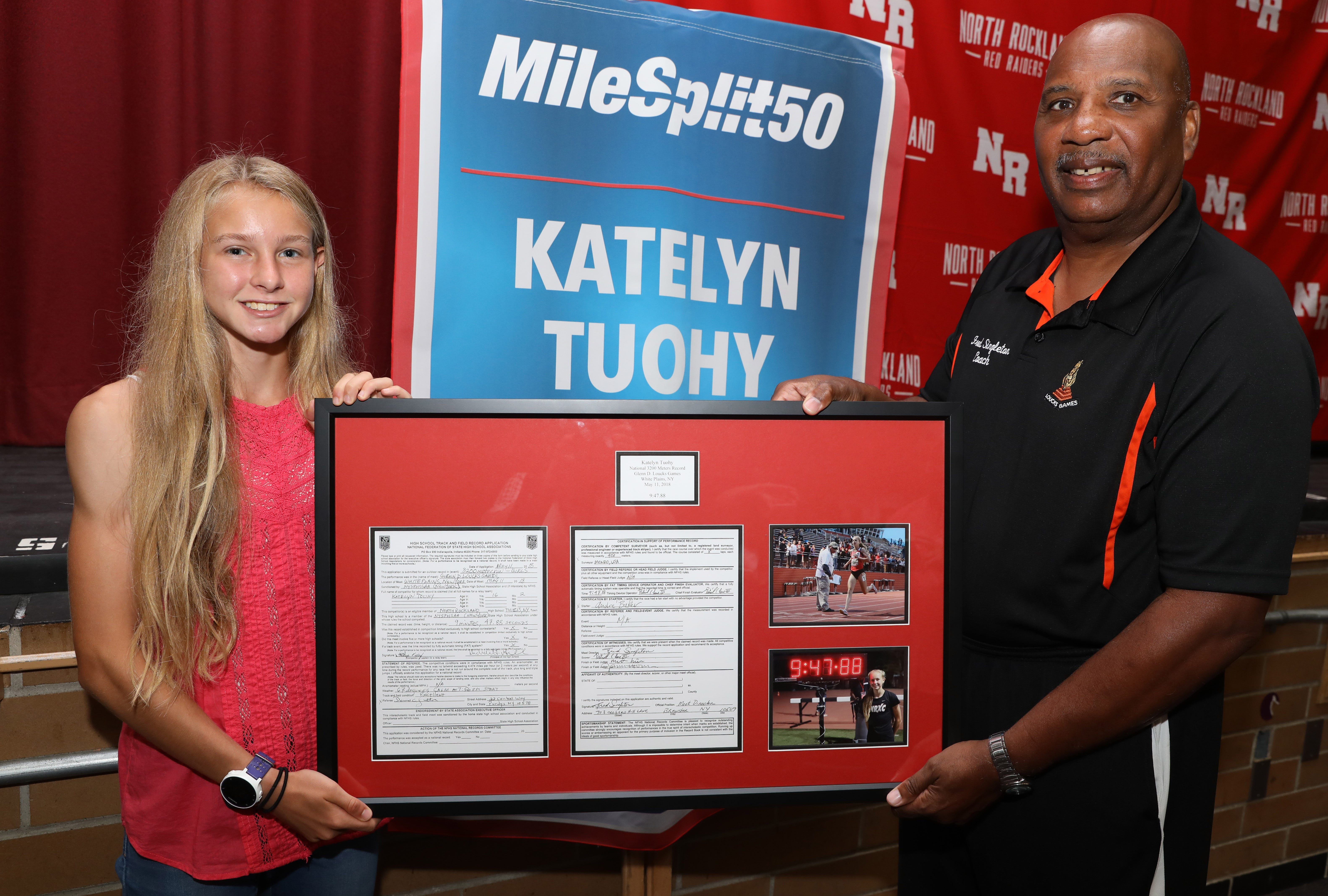 Loucks Games Honor Tuohy For Setting National 3200 Meter Record There