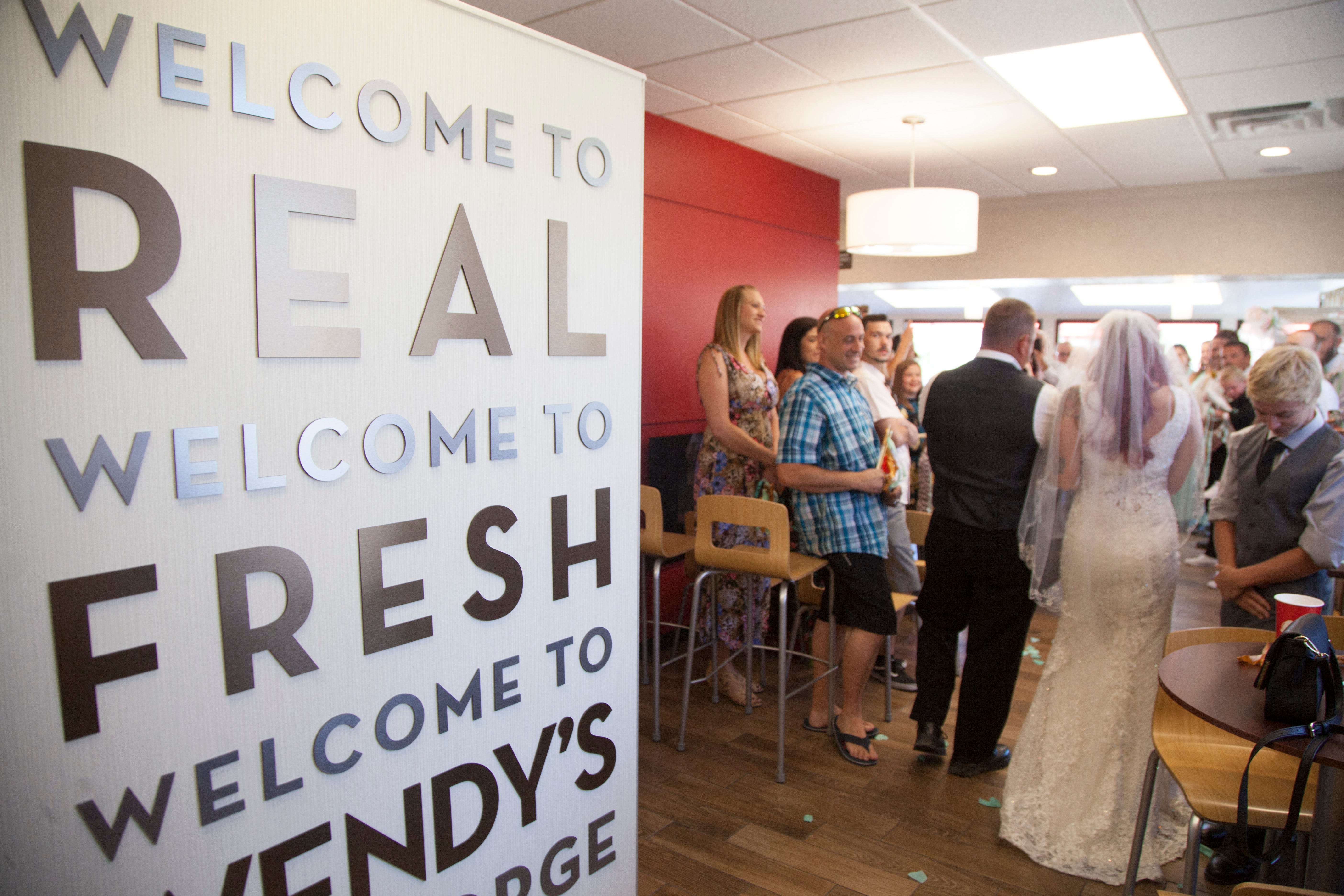 Frying the knot: Utah couple get married at Wendy's restaurant