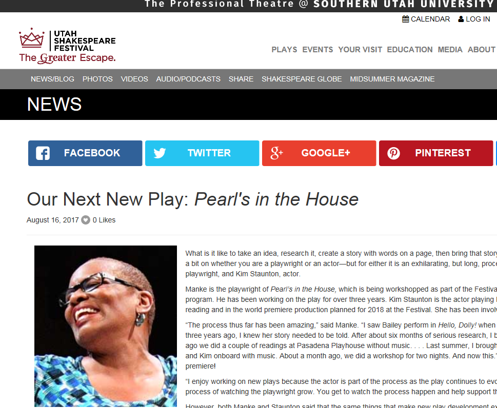 Pearl Bailey play's premiere canceled over writer's 'culturally insensitive' emails
