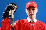 Jonatan Berggren, Jared McIsaac and Ryan O'Reilly on being drafted by Red Wings in 2018 NHL draft in Dallas on June 23.