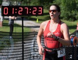 Meet top women's finisher Brittany Luzik of the YWCA T-Tri at Lake Redman. She was sixth overall in the competition.