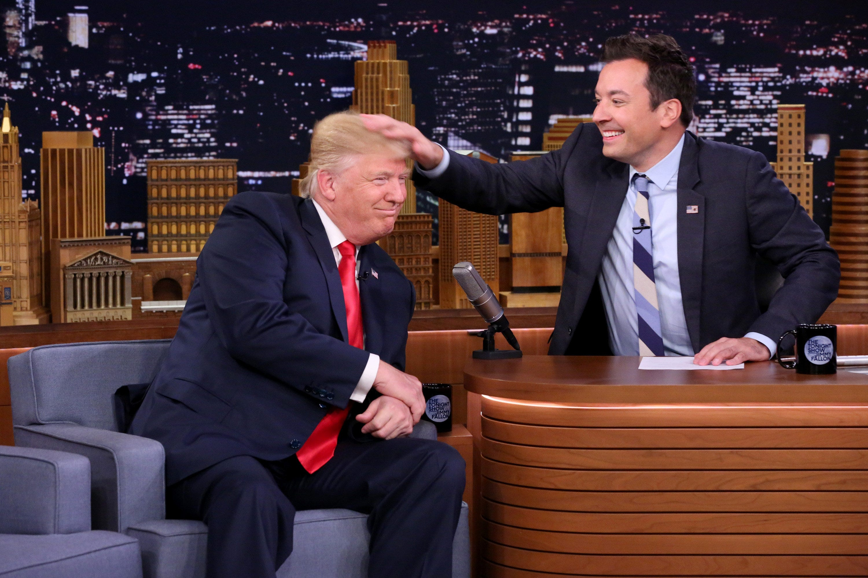 Trump tells Fallon 'be a man'; 'Tonight Show' host responds by donating to refugees