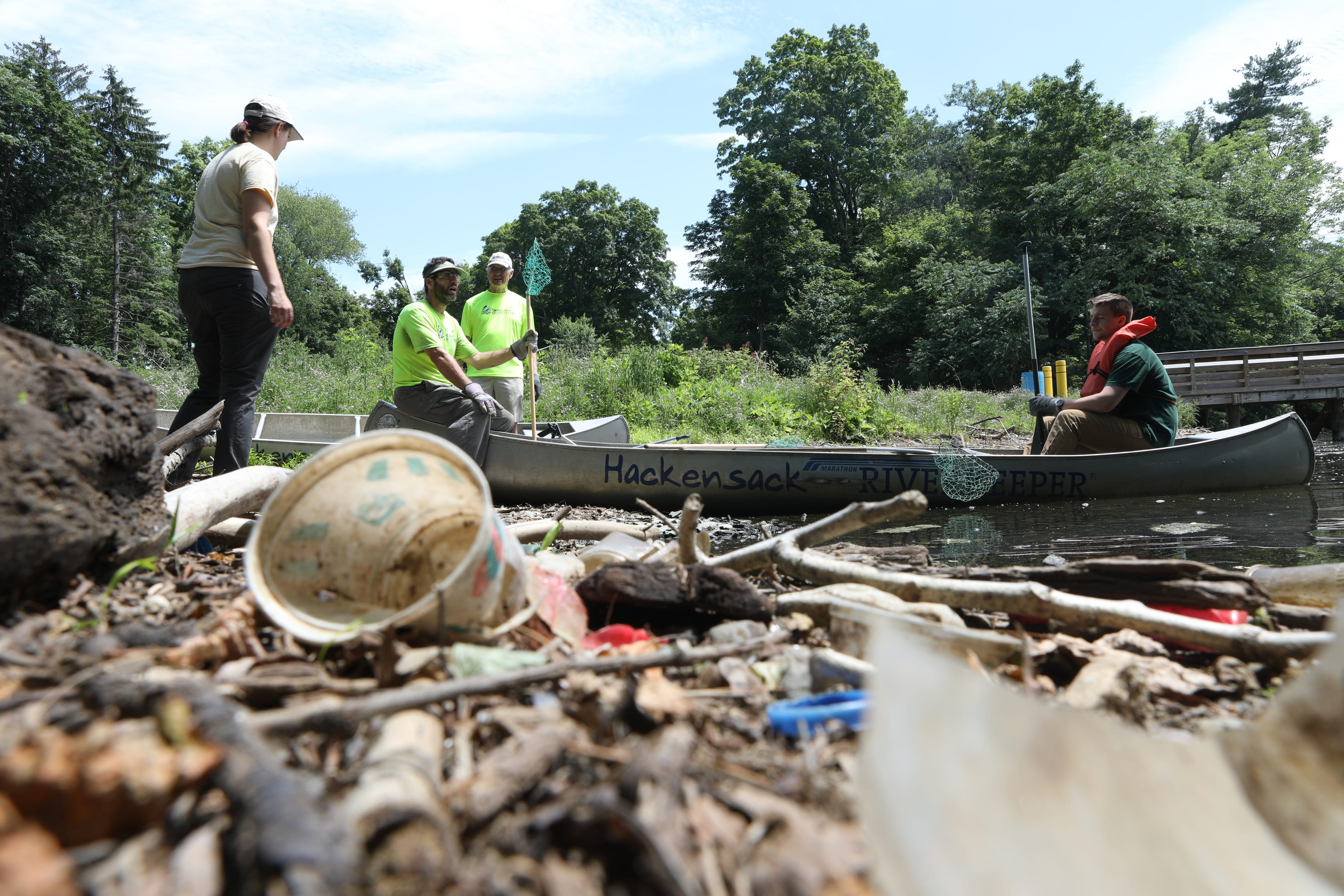 Volunteers from BD clean up Woodcliff Lake Reservoir
