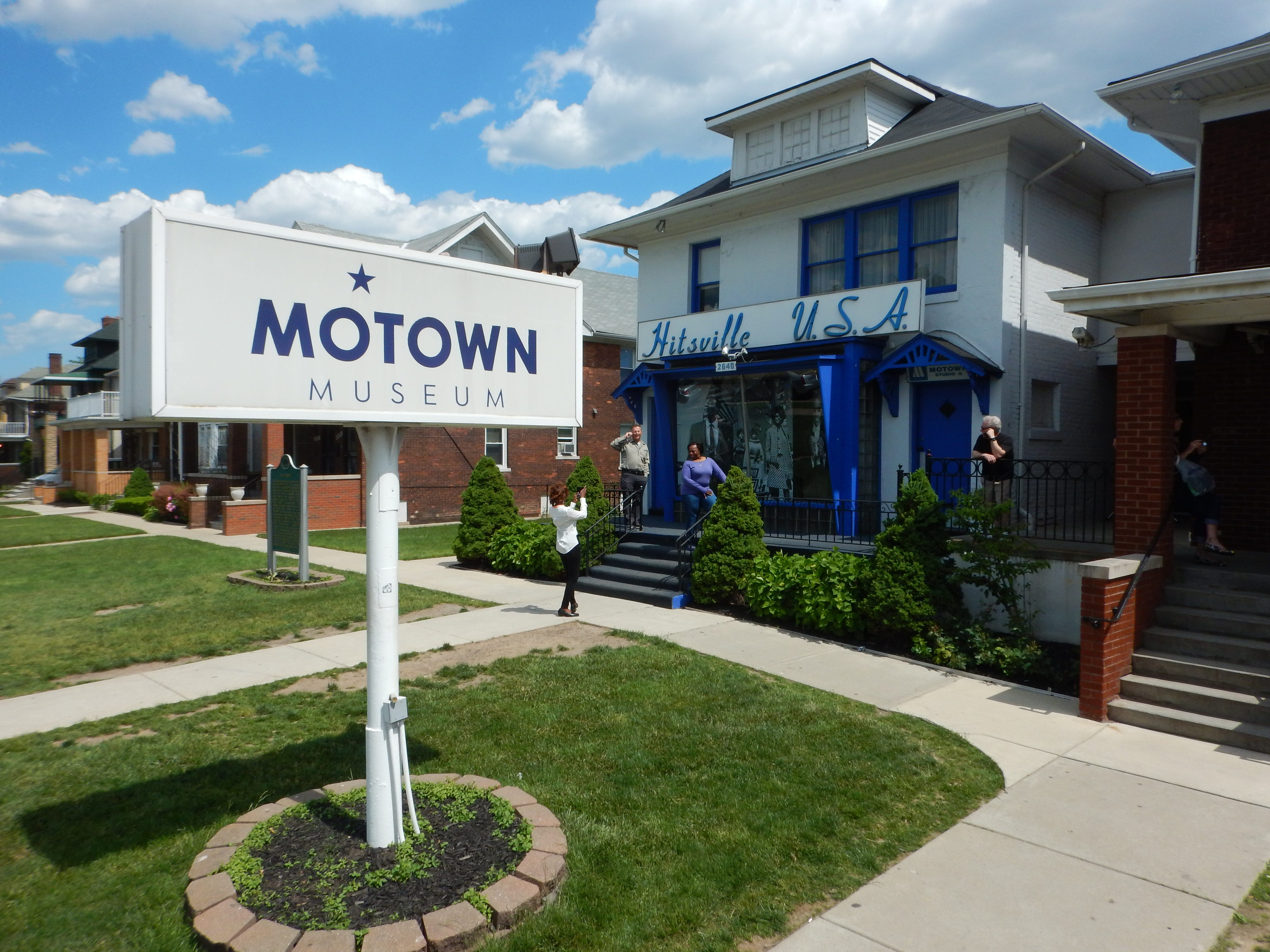 Who doesn't want a photo taken on the steps of Hitsville, U.S.A., home of the Motown Museum?