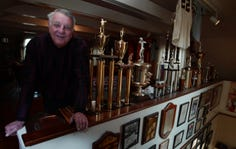 Former Sounds owner Larry Schmittou went from baseball to bowling