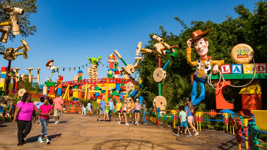 636657807131414854-disneyworld In Disney World's Toy Story Land, the guests are the toys