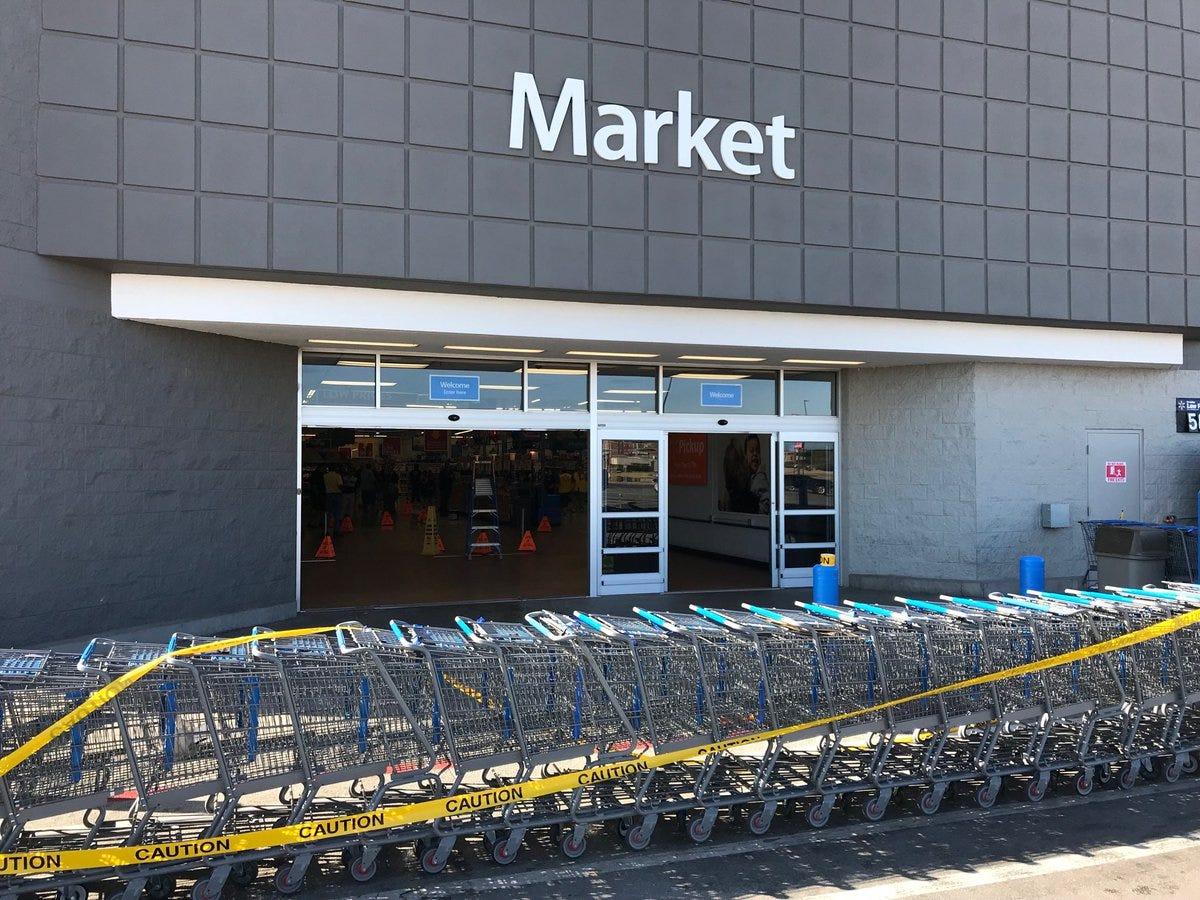 Vehicle slams into San Angelo Walmart Supercenter