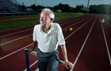 Dean Hayes has been the track and field coach at MTSU for more than 50 years and integrated the program in 1965.