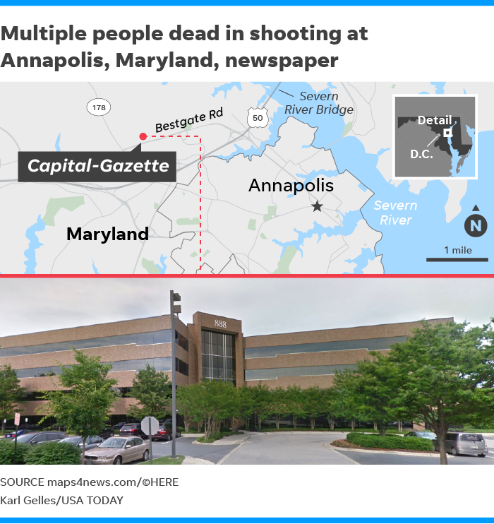 5 Killed In 'targeted Attack' On Capital Gazette Newspaper