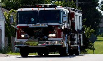 More than 150 emergency vehicles made up the funeral procession of firefighter Joseph Patterson. Watch it here and listen to portions of his funeral.