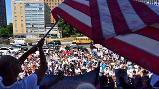 Families Belong Together rally in Newark, NJ