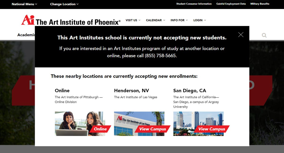 Art Institute of Phoenix to close in December, email to