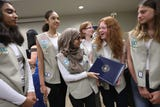Teaneck Girl Scouts Troop19 was honored Monday, July 1, 2018, by Congressman Josh Gottheimer, for the environmental work they do.
