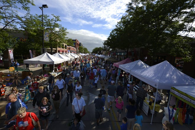 The Farmers Market on Broadway, which draws large crowds to the Broadway districe each Wednesday in summer, moved this year to Leicht Park due to the coronavius.