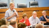 U.S. Senator Bill Nelson discusses toxic discharges in local waterways, and ways to stop them, Thursday, July 5, 2018, at Stuart City Hall downtown.