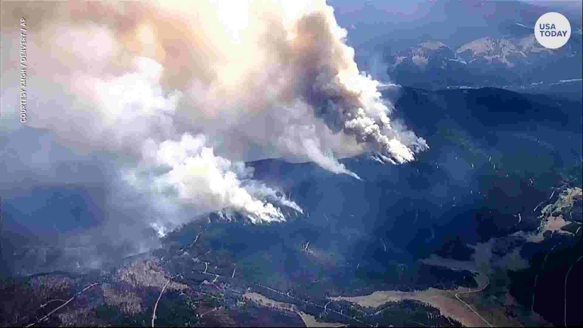 western wildfires thousands flee blazes in colorado california