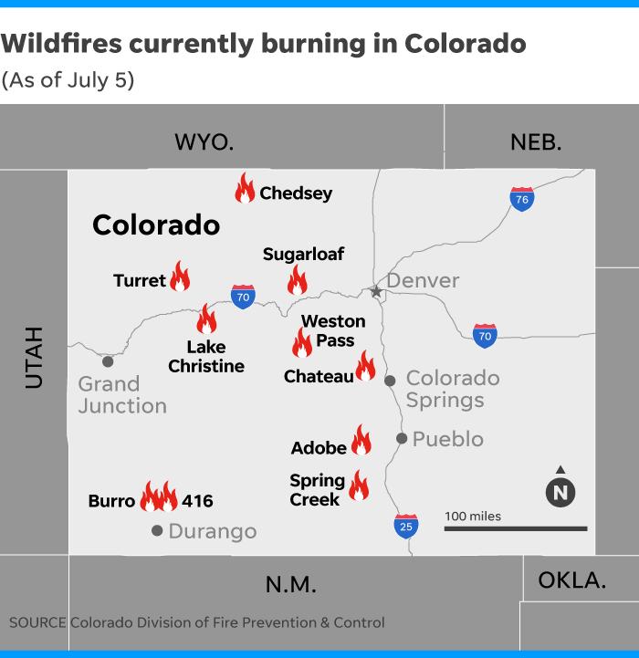 Western Wildfires: Thousands Flee Blazes In Colorado