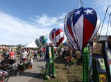 An overview of the 27th Hudson Valley Hot Air Balloon Festival at Dutchess County Fairgrounds
