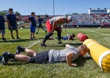Houston Texans linebacker Dylan Cole held a football camp at his old high school, Logan-Rogersville.